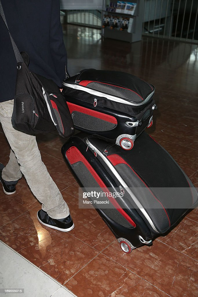 Actor Amaury Nolasco (luggage detail) is sighted at Nice airport after the 66th Annual Cannes Film Festival on May 27, 2013 in Nice, France.