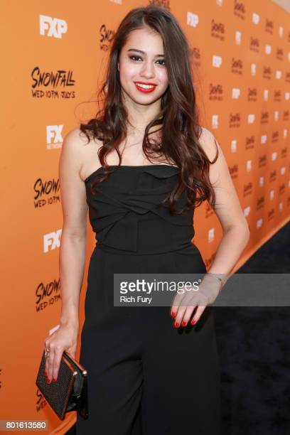 Actor Amber Midthunder attends the premiere of FX's 'Snowfall' at The Theatre at Ace Hotel on June 26 2017 in Los Angeles California