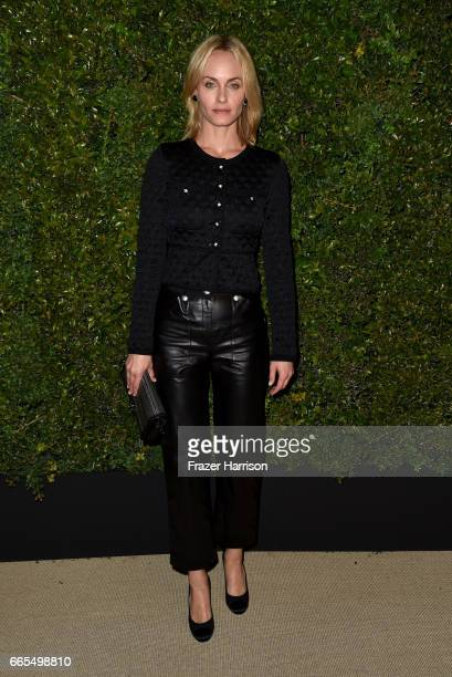 Actor Amber Valletta attends the celebration of Chanel's Gabrielle Bag hosted by Caroline De Maigret and Pharrell Williams at Giorgio Baldi on April...