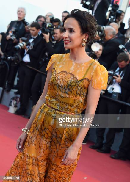Actor Amelle Chahbi attends the 'Okja' premiere during the 70th annual Cannes Film Festival at Palais des Festivals on May 19 2017 in Cannes France