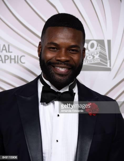 Actor Amin Joseph arrives at the FOX Broadcasting Company Twentieth Century Fox Television FX and National Geographic 69th Primetime Emmy Awards...