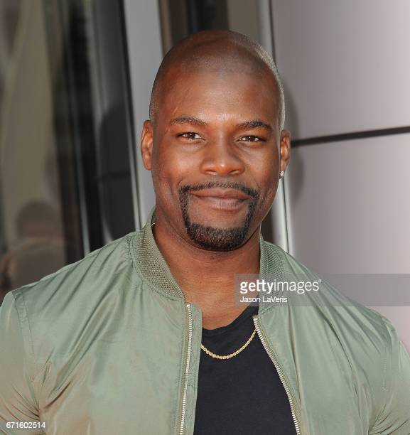 Actor Amin Joseph attends the 'Baywatch' SlowMo Marathon at Microsoft Square on April 22 2017 in Los Angeles California