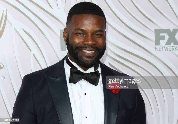 Actor Amin Joseph attends the FOX Broadcasting Company Twentieth Century Fox Television FX and National Geographic 69th primetime Emmy Awards after...