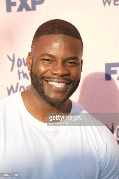 Actor Amin Joseph attends the premiere of FXX's 'You're The Worst' Season 4 at Museum of Ice Cream LA on August 29 2017 in Los Angeles California