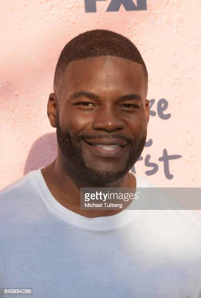 Actor Amin Joseph attends the premiere of Season 4 of FXX's 'You're The Worst' at Museum of Ice Cream LA on August 29 2017 in Los Angeles California