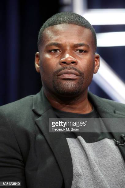 Actor Amin Joseph of 'Snowfall' speaks onstage during the FX portion of the 2017 Summer Television Critics Association Press Tour at The Beverly...