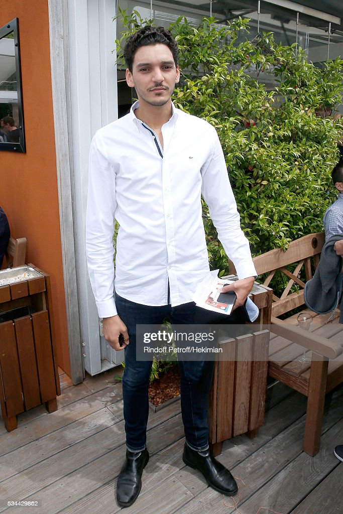 Actor Amir El Kacem attends the 2016 French Tennis Open - Day Five at Roland Garros
