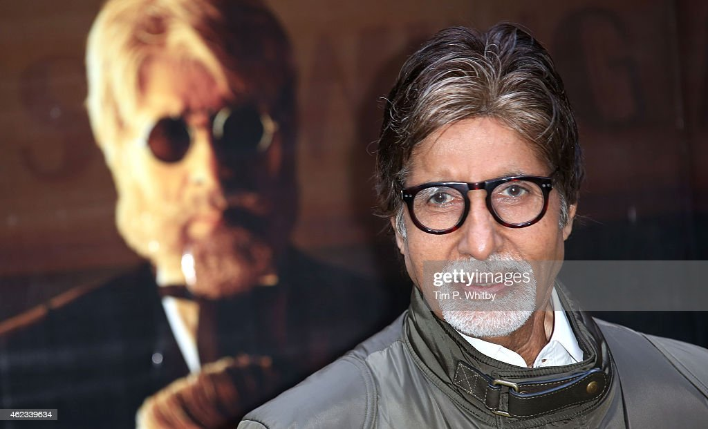 Actor <a gi-track='captionPersonalityLinkClicked' href=/galleries/search?phrase=Amitabh+Bachchan&family=editorial&specificpeople=220394 ng-click='$event.stopPropagation()'>Amitabh Bachchan</a> attends a photocall for 'Shamitabh' at St James Court Hotel on January 27, 2015 in London, England.