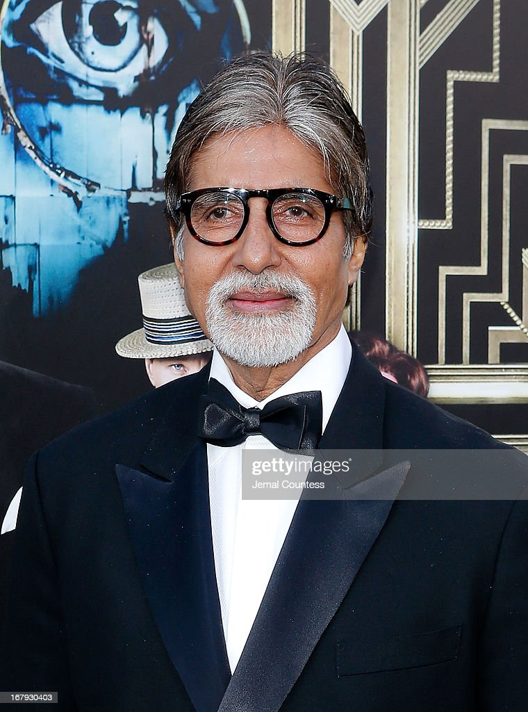 Actor <a gi-track='captionPersonalityLinkClicked' href=/galleries/search?phrase=Amitabh+Bachchan&family=editorial&specificpeople=220394 ng-click='$event.stopPropagation()'>Amitabh Bachchan</a> attends 'The Great Gatsby' world premiere at Avery Fisher Hall at Lincoln Center for the Performing Arts on May 1, 2013 in New York City.