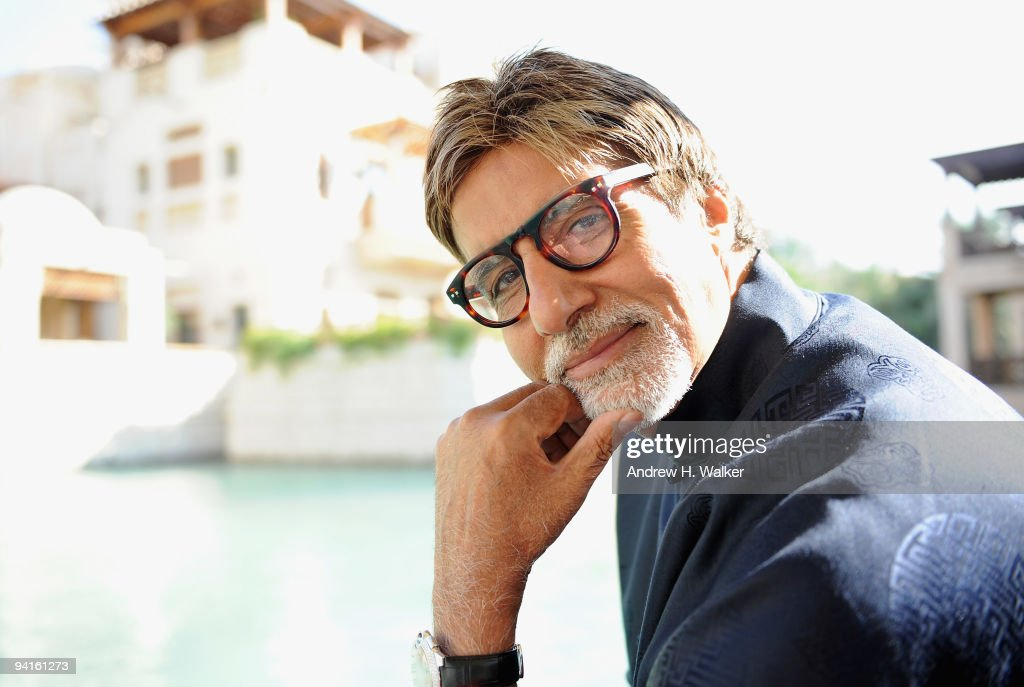 Actor <a gi-track='captionPersonalityLinkClicked' href=/galleries/search?phrase=Amitabh+Bachchan&family=editorial&specificpeople=220394 ng-click='$event.stopPropagation()'>Amitabh Bachchan</a> during a portrait session on day one of the 6th Annual Dubai International Film Festival held at the Madinat Jumeriah Complex on December 9, 2009 in Dubai, United Arab Emirates.