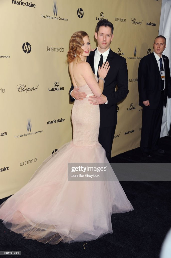 Actor Amy Adams and her fiance Darren Le Gallo attends The Weinstein Company's 2013 Golden Globes After Party held at The Old Trader Vic's in The Beverly Hilton Hotel on January 13, 2013 in Beverly Hills, California.