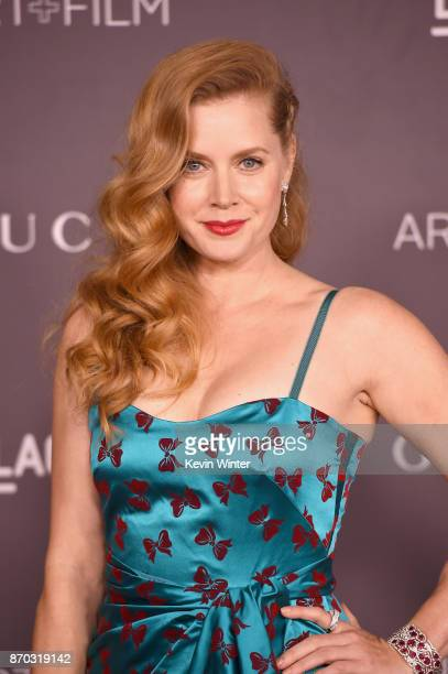 Actor Amy Adams attends the 2017 LACMA Art Film Gala Honoring Mark Bradford And George Lucas at LACMA on November 4 2017 in Los Angeles California