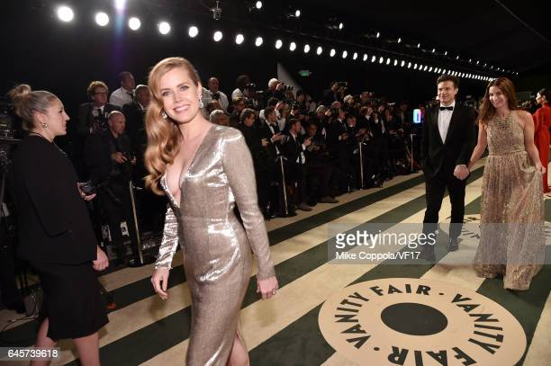 Actor Amy Adams attends the 2017 Vanity Fair Oscar Party hosted by Graydon Carter at Wallis Annenberg Center for the Performing Arts on February 26...