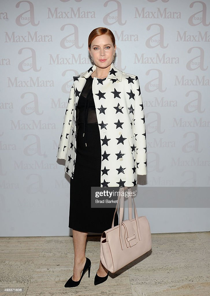 Actor Amy Adams attends the Max Mara Spring/Summer 2016 Accessories Campaign Celebration at Four Seasons Restaurant on October 19 2015 in New York...