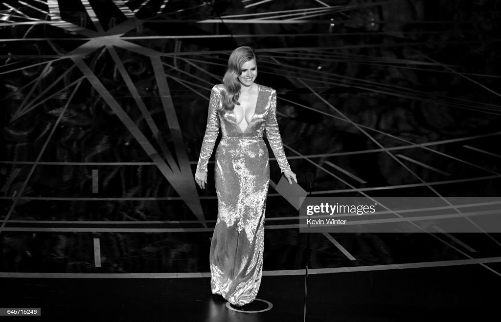 Actor Amy Adams walks onstage during the 89th Annual Academy Awards at Hollywood & Highland Center on February 26, 2017 in Hollywood, California.