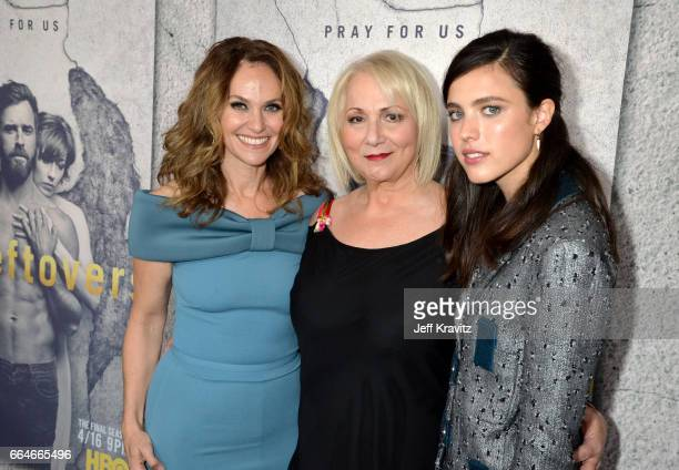 Actor Amy Brenneman Director Mimi Leder and actor Sarah Margaret Qualley attend HBO's 'The Leftovers' season 3 premiere and after party at Avalon...