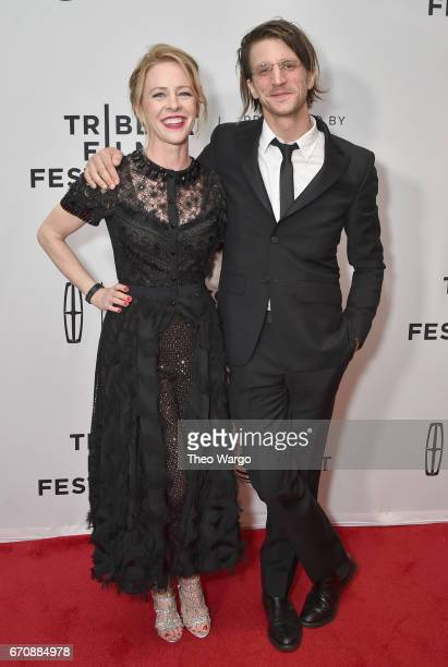 Actor Amy Hargreaves and Director Kevin Phillips attend the 'Super Dark Times' Premiere during 2017 Tribeca Film Festival at Cinepolis Chelsea on...