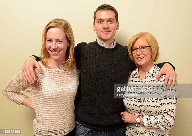 Actor Amy Hargreaves director/screenwriter Jeremy Saulnier and actor Eve Plumb pose for a portrait during the 2014 Sundance Film Festival at the...