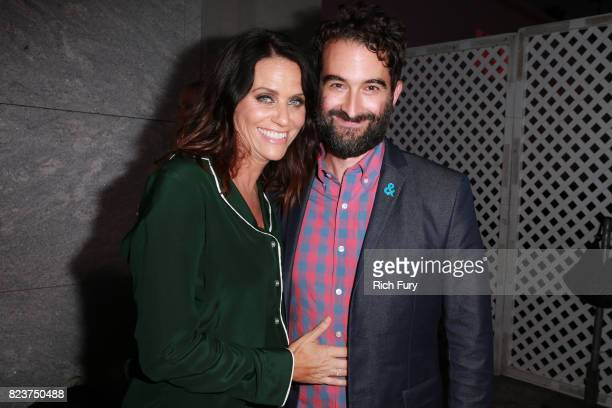 Actor Amy Landecker and creator/executive producer Jay Duplass attend the premiere Of HBO's 'Room 104' at Hollywood Forever on July 27 2017 in...