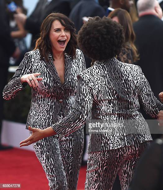 Actor Amy Landecker and Jenifer Lewis attend The 23rd Annual Screen Actors Guild Awards at The Shrine Auditorium on January 29 2017 in Los Angeles...