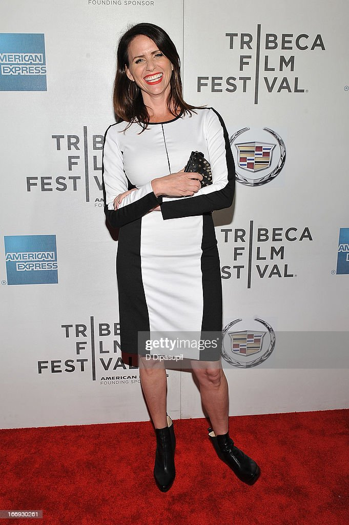 Actor <a gi-track='captionPersonalityLinkClicked' href=/galleries/search?phrase=Amy+Landecker&family=editorial&specificpeople=6149042 ng-click='$event.stopPropagation()'>Amy Landecker</a> attends the 'Almost Christmas' world premiere during the 2013 Tribeca Film Festival on April 18, 2013 in New York City.