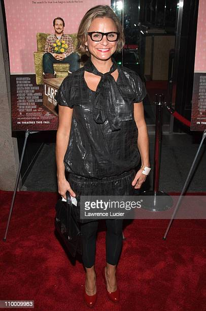 Actor Amy Sedaris arrives at the New York screening of Lars And The Real Girl October 3 at the Paris Theater in New York City
