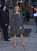 Actor Amy Sedaris arrives for the 'Late Show with David Letterman' at the Ed Sullivan Theater on November 24 2014 in New York City
