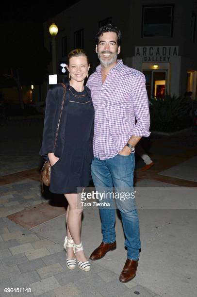 Actor Amy Smart and TV personality Carter Oosterhouse attend the screening of 'Dark Blue Girl' during the 2017 Los Angeles Film Festival at Arclight...