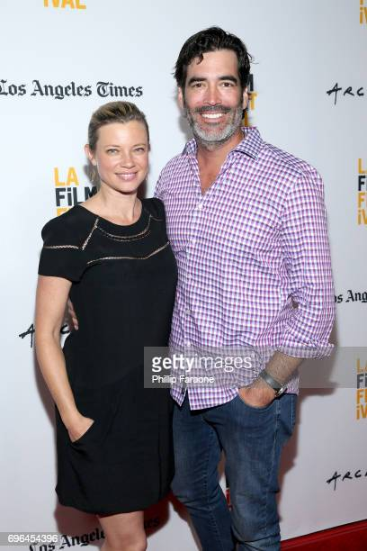 Actor Amy Smart and TV personality Carter Oosterhouse attend the screening of 'The Keeping Hours' during the 2017 Los Angeles Film Festival at...
