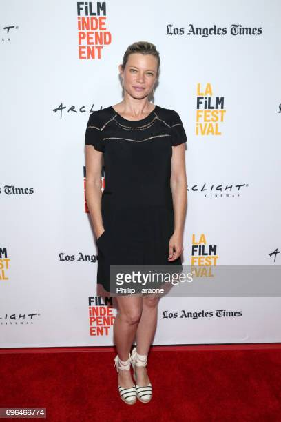 Actor Amy Smart attends the screening of 'The Keeping Hours' during the 2017 Los Angeles Film Festival at Arclight Cinemas Culver City on June 15...