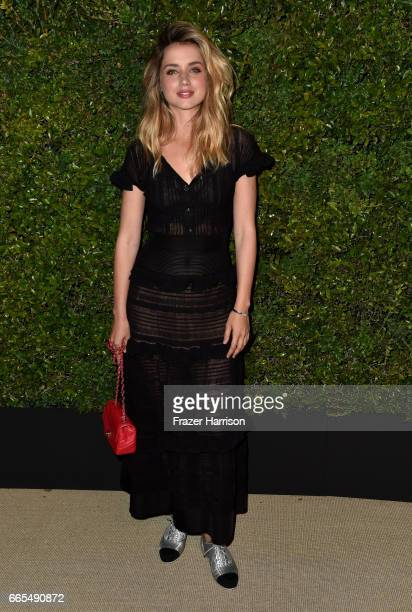 Actor Ana de Armas attends the celebration of Chanel's Gabrielle Bag hosted by Caroline De Maigret and Pharrell Williams at Giorgio Baldi on April 6...