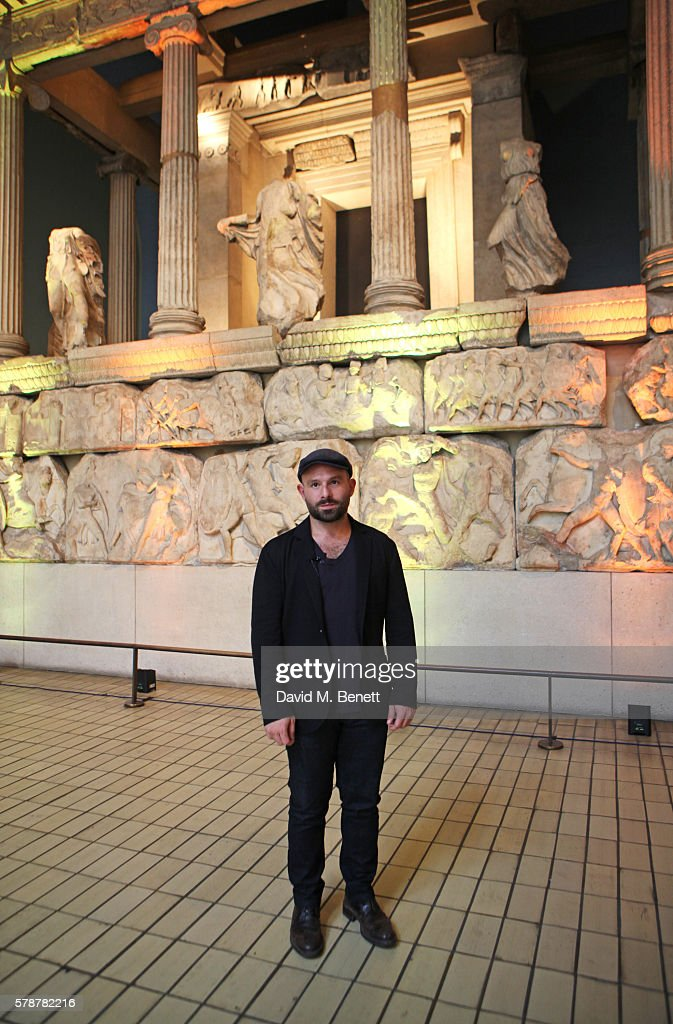 Actor Anatol Yusef reads 'Poets, Warriors' by Gabriele Tinti at The British Museum on July 22, 2016 in London, England.