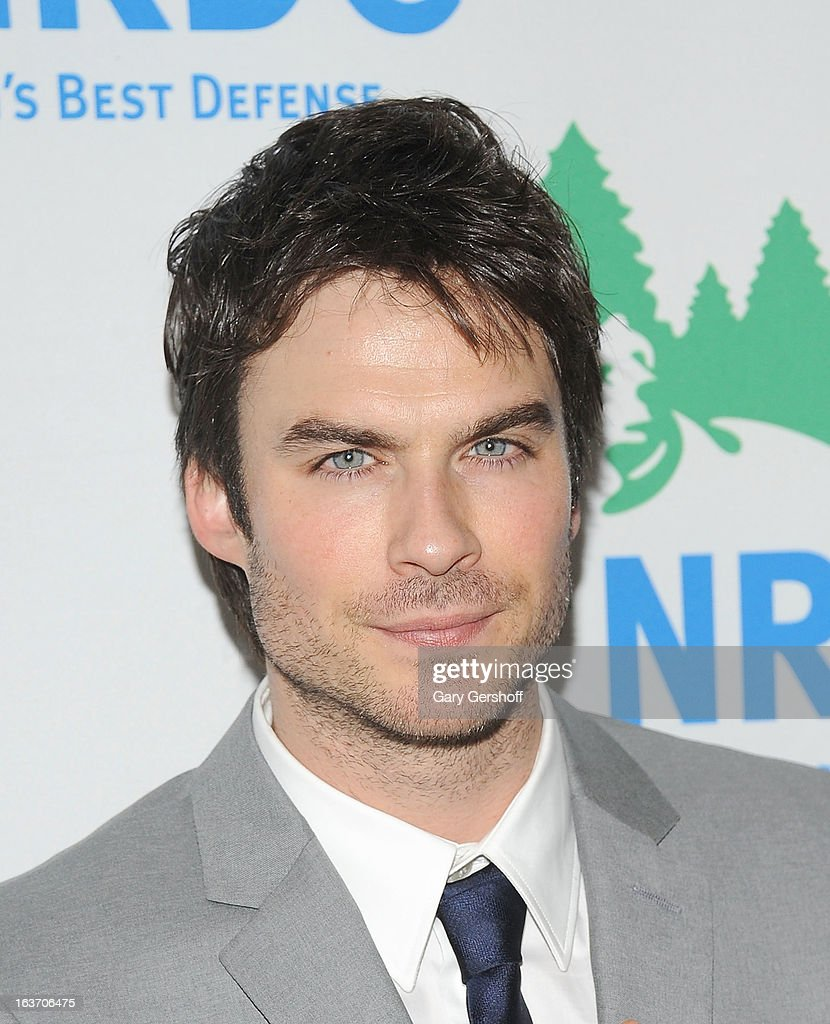 Actor and activist <a gi-track='captionPersonalityLinkClicked' href=/galleries/search?phrase=Ian+Somerhalder&family=editorial&specificpeople=614226 ng-click='$event.stopPropagation()'>Ian Somerhalder</a> attends the 2013 National Resource Defense Council Game Changer Awards at the Mandarin Oriental Hotel on March 14, 2013 in New York City.