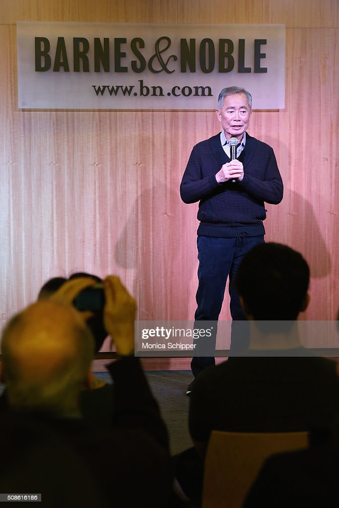 Actor and 'Allegiance' cast member <a gi-track='captionPersonalityLinkClicked' href=/galleries/search?phrase=George+Takei&family=editorial&specificpeople=1534988 ng-click='$event.stopPropagation()'>George Takei</a> promotes the original Broadway cast recording of 'Allegiance' at at Barnes & Noble, 86th & Lexington on February 5, 2016 in New York City.