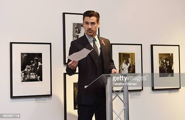 Actor and Ambassador to The Elizabeth Taylor AIDS Foundation Colin Farrell talks at a press event to announce a new push to fasttrack the end of the...
