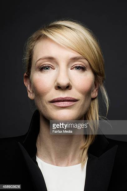 Actor and artistic director of the Sydney theatre Cate Blanchett is photographed for Australian Financial Review on September 1 2014 in Sydney...