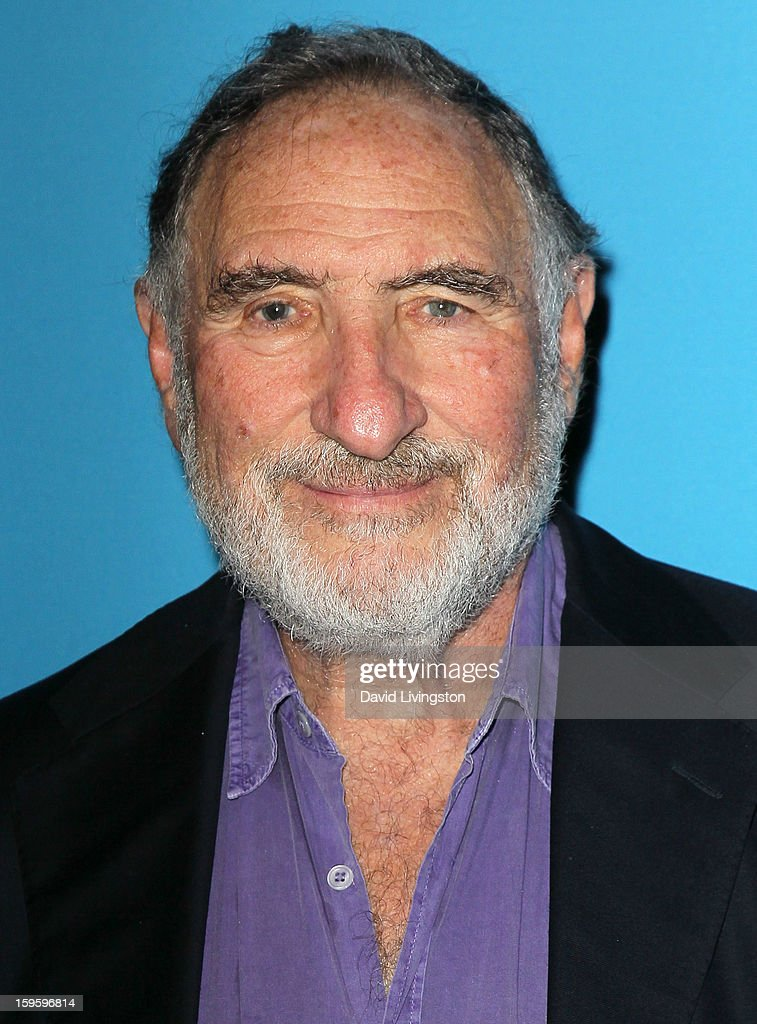 Actor and cast member <a gi-track='captionPersonalityLinkClicked' href=/galleries/search?phrase=Judd+Hirsch&family=editorial&specificpeople=228101 ng-click='$event.stopPropagation()'>Judd Hirsch</a> poses at the opening night of 'Freud's Last Session' at The Broad Stage at the Santa Monica College Performing Arts Center on January 16, 2013 in Santa Monica, California.
