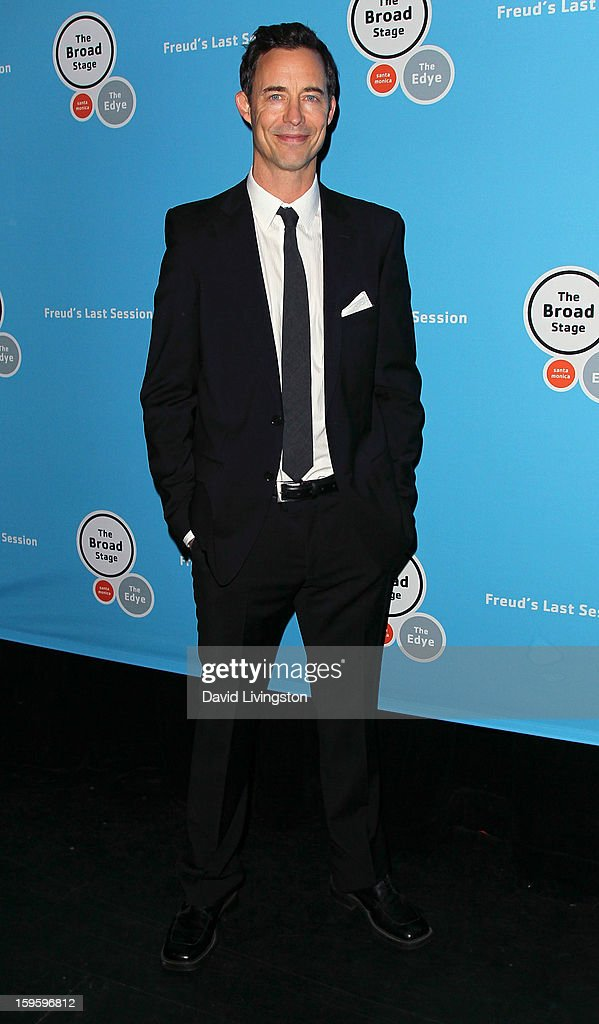 Actor and cast member Tom Cavanagh attends the opening night of 'Freud's Last Session' at The Broad Stage at the Santa Monica College Performing Arts Center on January 16, 2013 in Santa Monica, California.