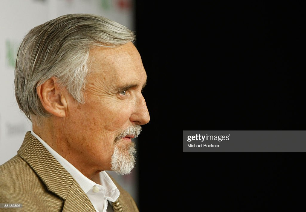 Actor and chair of the CineVegas creative advisory board <a gi-track='captionPersonalityLinkClicked' href=/galleries/search?phrase=Dennis+Hopper&family=editorial&specificpeople=201475 ng-click='$event.stopPropagation()'>Dennis Hopper</a> arrives at the awards reception during the 11th annual CineVegas film festival held at Rain Nightclub inside the Palms Casino Resort on June 14, 2009 in Las Vegas, Nevada.