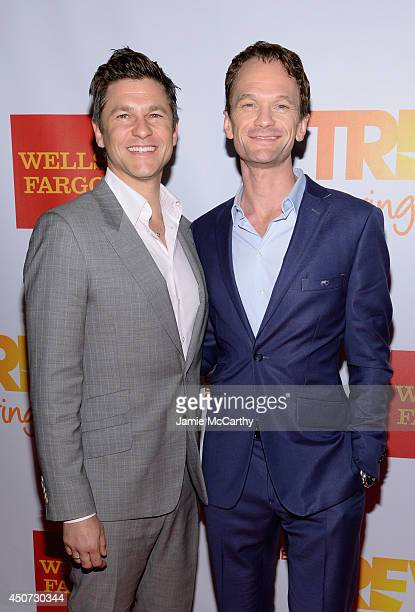Actor and chef David Burtka and actor Neil Patrick Harris attend the Trevor Project's 2014 'TrevorLIVE NY' Event at the Marriott Marquis Hotel on...