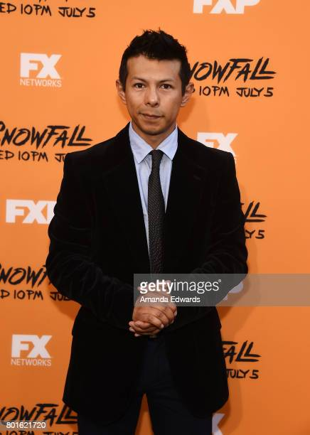 Actor and choreographer Hansel Ramirez arrives at the premiere of FX's 'Snowfall' at The Theatre at Ace Hotel on June 26 2017 in Los Angeles...