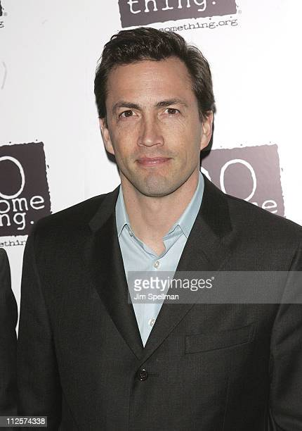 Actor and CoFounder of 'Do Something' Andrew Shue attends the 15th Annual Do Something Gala at Espace on March 6 2008 in New York City