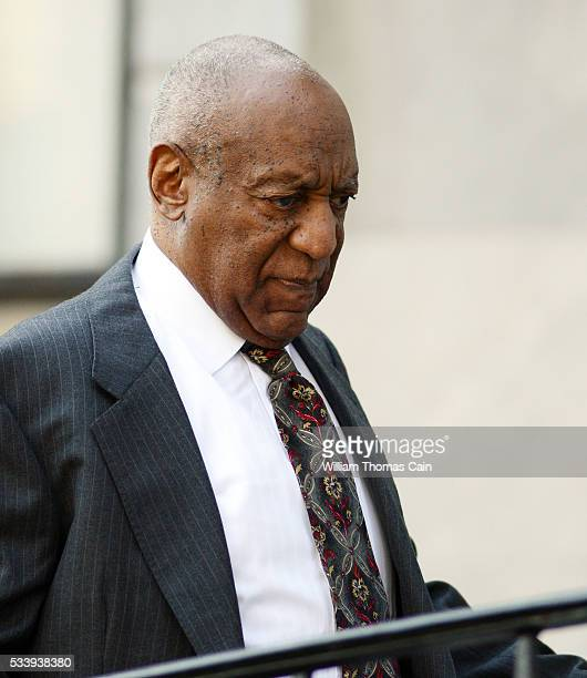 Actor and comedian Bill Cosby arrives for a preliminary hearing on sexual assault charges at Montgomery County Courthouse on May 24 2016 in...