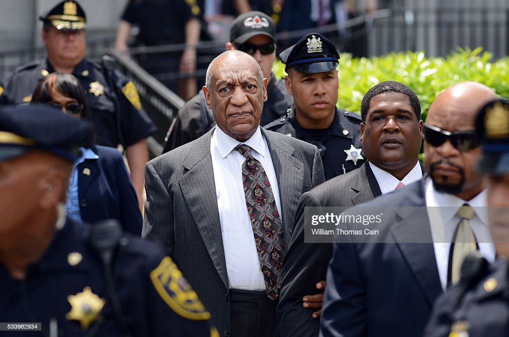 Actor and comedian <a gi-track='captionPersonalityLinkClicked' href=/galleries/search?phrase=Bill+Cosby&family=editorial&specificpeople=206281 ng-click='$event.stopPropagation()'>Bill Cosby</a> leaves a preliminary hearing on sexual assault charges on May 24, 2016 in at Montgomery County Courthouse in Norristown, Pennsylvania. Enough evidence was found to proceed with a trial, a Pennsylvania judge ruled.