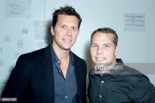 Actor and Comedian Hayes Macarthur and Artist Shepard Fairey attends the Art Of Elysium 20th Anniversary Celebration at therethere on August 17 2017...