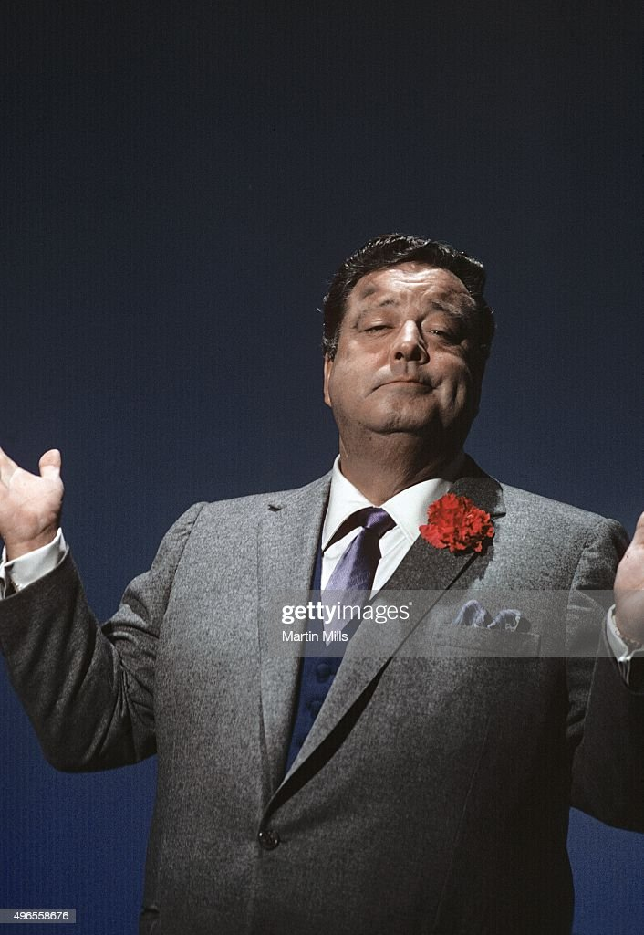 Actor and comedian <a gi-track='captionPersonalityLinkClicked' href=/galleries/search?phrase=Jackie+Gleason&family=editorial&specificpeople=203285 ng-click='$event.stopPropagation()'>Jackie Gleason</a> hosts 'The <a gi-track='captionPersonalityLinkClicked' href=/galleries/search?phrase=Jackie+Gleason&family=editorial&specificpeople=203285 ng-click='$event.stopPropagation()'>Jackie Gleason</a> Show' at the Miami Beach Auditorium in 1969 in Miami Beach, Florida.