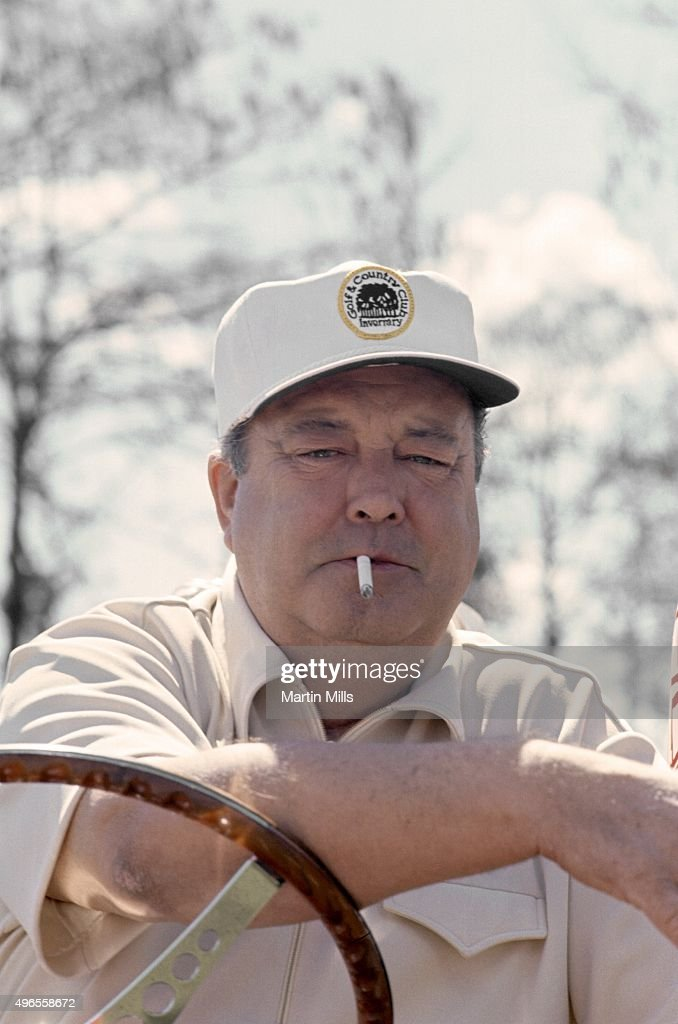 Actor and comedian <a gi-track='captionPersonalityLinkClicked' href=/galleries/search?phrase=Jackie+Gleason&family=editorial&specificpeople=203285 ng-click='$event.stopPropagation()'>Jackie Gleason</a> poses for a photo during <a gi-track='captionPersonalityLinkClicked' href=/galleries/search?phrase=Jackie+Gleason&family=editorial&specificpeople=203285 ng-click='$event.stopPropagation()'>Jackie Gleason</a>'s Inverrary Classic golf tournament in Lauderhill, Florida.