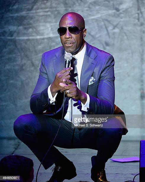 Actor and comedian JB Smoove performs during his appearance at the Alliance for Children's Rights 5th Annual Right to Laugh comedy benefit at Avalon...