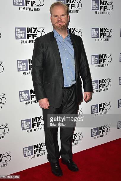 Actor and comedian Jim Gaffigan attends the premiere of 'Experimenter' during the 53rd New York Film Festival at Alice Tully Hall Lincoln Center on...