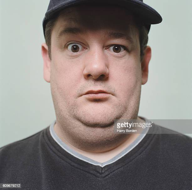 Actor and comedian Johnny Vegas is photographed for the Observer on December 2 1998 in London England